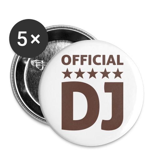 CrazYMusic - DJButton - Buttons klein 25 mm (5er Pack)