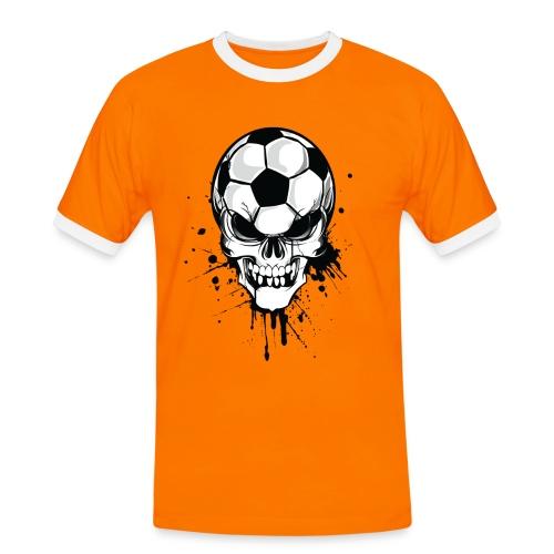 Mannen contrastshirt - nederlands elftal shirt,dutch skull