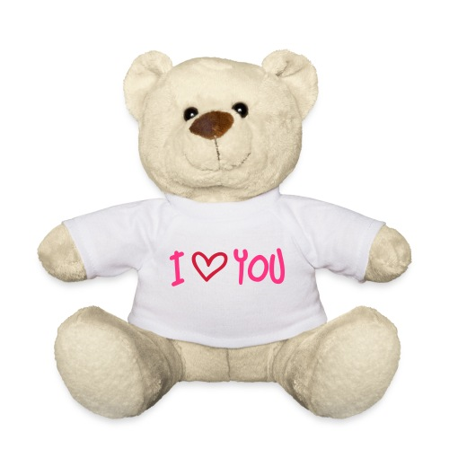 Ours en peluche blanc I love you - Nounours
