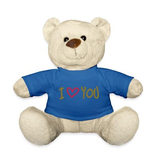 Ours en peluche bleu I Love You - Nounours