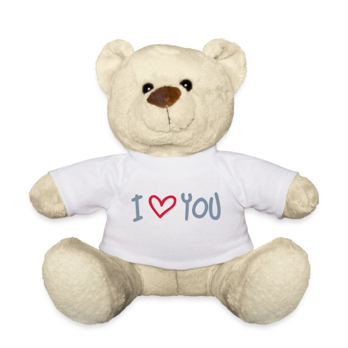 Ours en peluche rouge  I Love You  - Nounours
