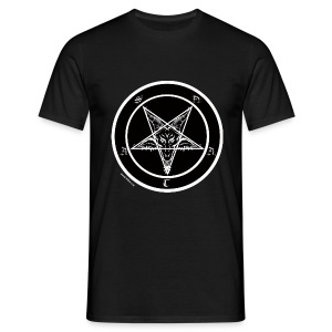 Sigil of Baphomet pentagram - Men's T-Shirt
