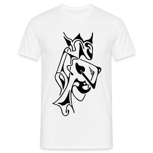 T-Shirt classique homme, motif devant, roi - T-shirt Homme