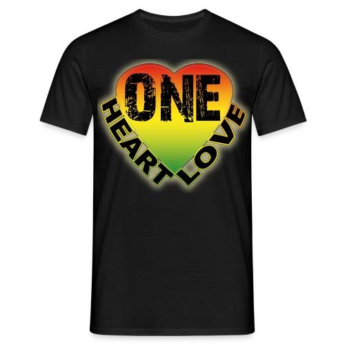 One Heart One Love - Men's T-Shirt