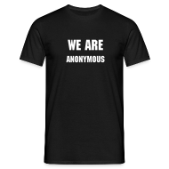 Tee shirts ~ Tee shirt Homme ~ WE ARE ANONYMOUS
