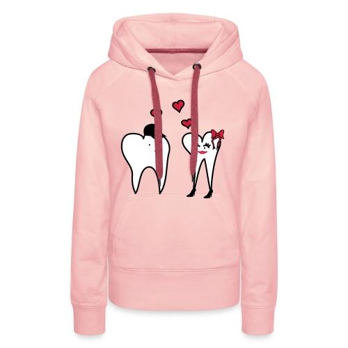 Zähne in Love - Frauen Premium Hoodie