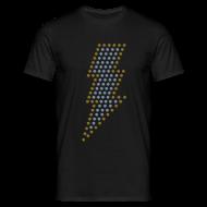 T-shirts ~ Mannen T-shirt ~ Bliksem! Zilver- & goud-metallic