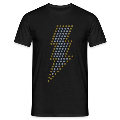 Bliksem! Zilver- & goud-metallic - Mannen T-shirt