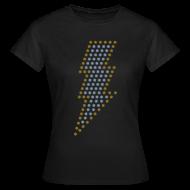 T-shirts ~ Vrouwen T-shirt ~ Bliksem! Zilver- & goud-metallic