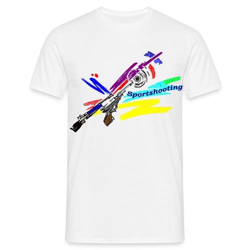 T-shirt modernes Schieß-Sportmuster - Männer T-Shirt