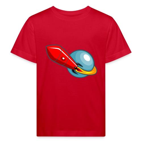 Retro - Weltraumrakete - Kinder Bio-T-Shirt