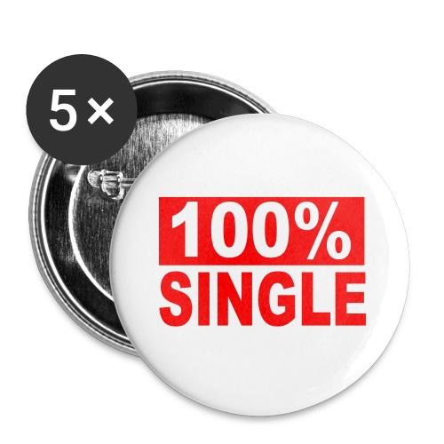 100% Single Badges - Buttons medium 1.26/32 mm (5-pack)