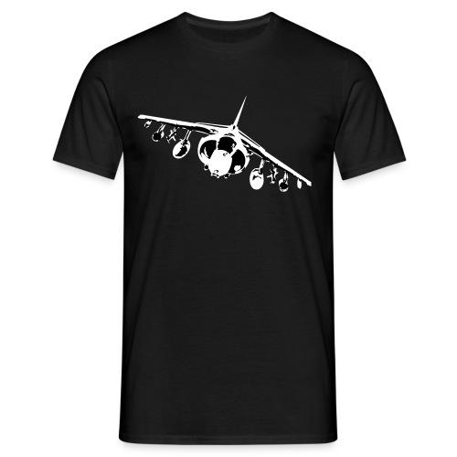 Harrier Front - White/Black - Men's T-Shirt