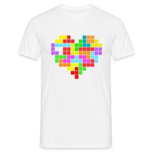 camiseta tetris love - Camiseta hombre