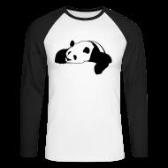 Long sleeve shirts ~ Men's Long Sleeve Baseball T-Shirt ~ Mens Raglan Big Panda