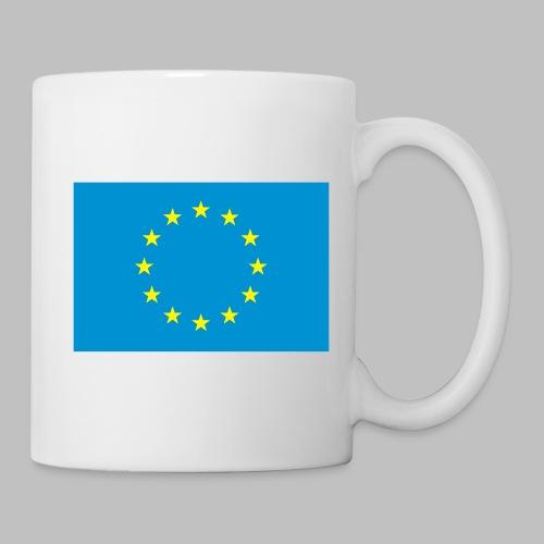 Europaflagge (vorn) - Tasse, Griff rechts - Tasse