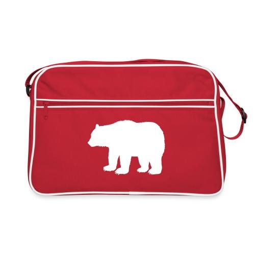 Retro sport taske hvid bjørn - Retro taske