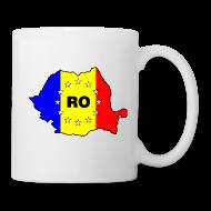 Tassen & Zubehör ~ Tasse ~ Kaffepott mit Rumänien-Karte RO-EU