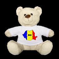 Kuscheltiere ~ Teddy ~ Teddy mit Rumänien-Karte RO-EU