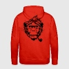 Rouge  Sweat-shirts - Sweat-shirt à capuche Premium pour hommes