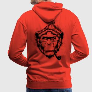 Red Ironic Chimp Shirt Hoodies & Sweatshirts - Men's Premium Hoodie