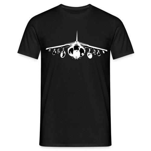 Harrier Level Front - White/Black - Men's T-Shirt