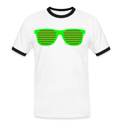 Maglia Uomo Occhiali Trendy  - Maglietta Contrast da uomo