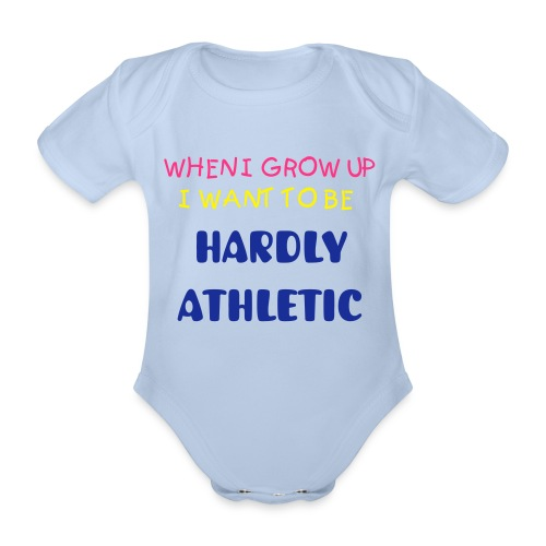 Hardly Match FIT... - Organic Short-sleeved Baby Bodysuit