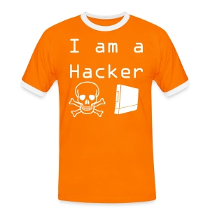 T-shirt US Orange - Logo Hacker02 - T-shirt contrasté Homme