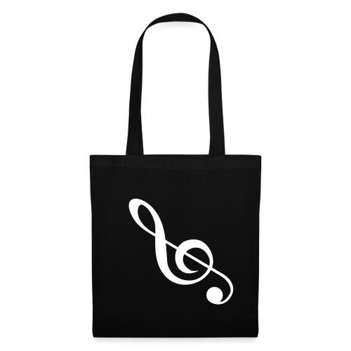 Stoffen tas  Muzieknoot - Tas van stof