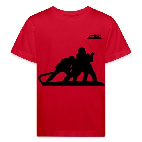 Trois Pompiers en action d'extinction - T-shirt bio Enfant
