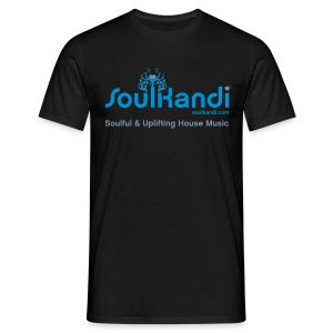 Choose Your Own Colour Tee Shirt (Blue & Grey Logo) - For Dark Coloured Tee's (Click Details For Options) - Men's T-Shirt