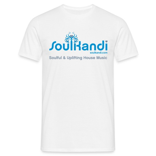 Choose Your Own Colour Tee Shirt (Blue & Grey Logo) - For Lighter Coloured Tee's (Click Details For Options) - Men's T-Shirt