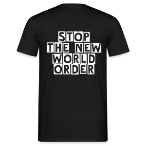STOP THE NEW WORLD ORDER BLACK - Maglietta da uomo