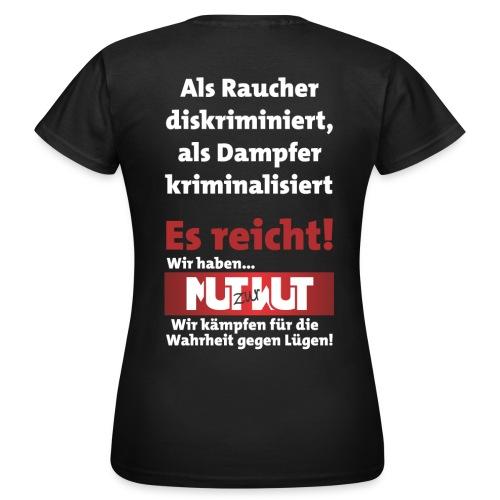 Mut zur Wut Plakat auf dem Rücken - Frauen T-Shirt