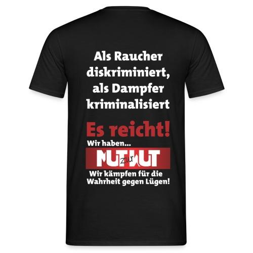 Mut zur Wut Plakat auf dem Rücken - Männer T-Shirt