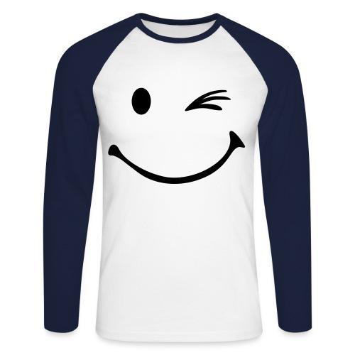 Smile - Männer Baseballshirt langarm