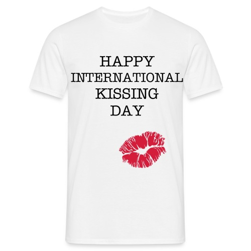 happyINTLkissingday - Men's T-Shirt