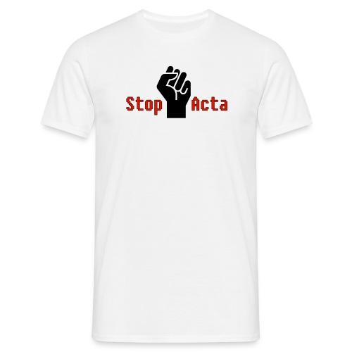 Stop Acta - Männer T-Shirt