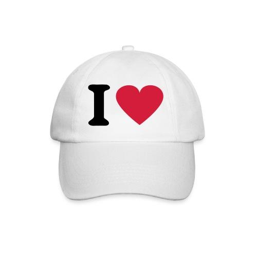 I love - Baseballkappe