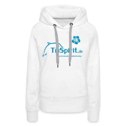 Cordula Kapuzenpulli blaues Logo  mit Slogan - Frauen Premium Hoodie