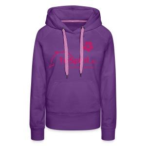 Cordula Kapuzenpulli pinkes Logo  mit Slogan - Frauen Premium Hoodie
