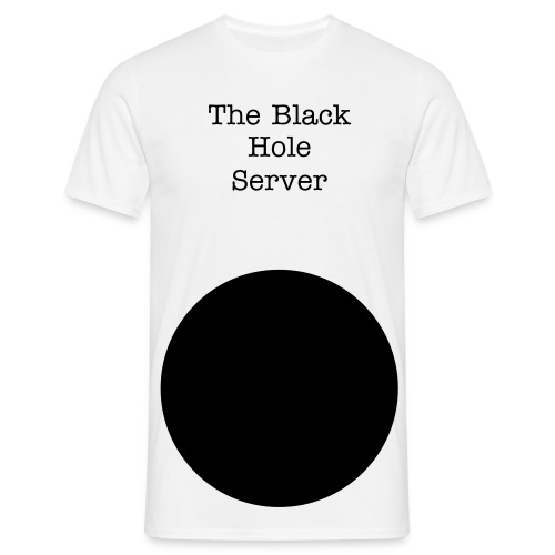The Black Hole Server T-Shirt - T-shirt herr