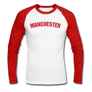 Manchester - Men's Long Sleeve Baseball T-Shirt