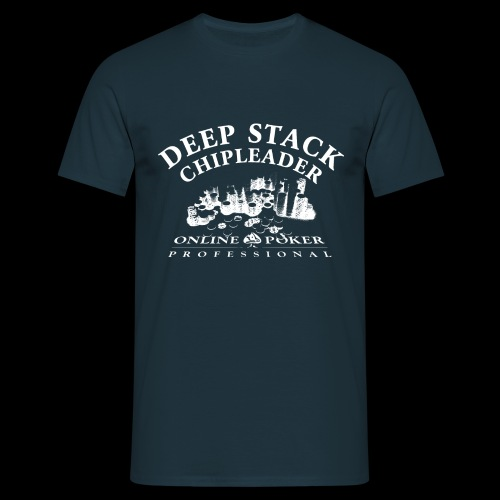 Poker Deep Stack (white) - Men's T-Shirt