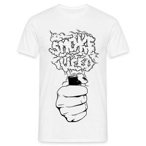 Smoke Weed HP Tee White Men - Mannen T-shirt