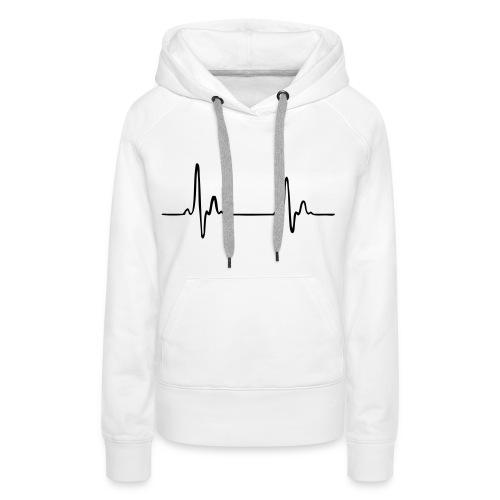 heartbeat - Vrouwen Premium hoodie