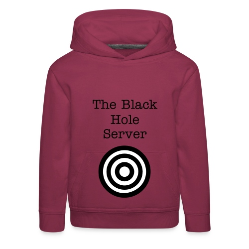 The Black Hole Server Tjock-Tröja - Premium-Luvtröja barn