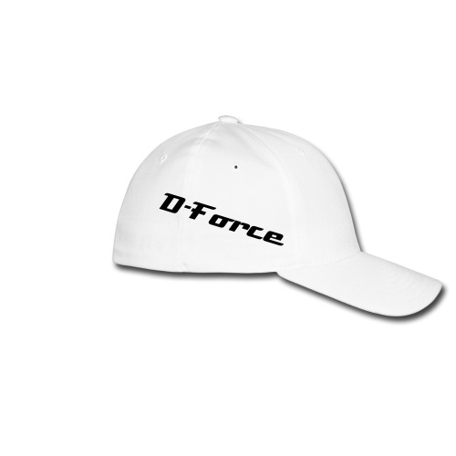 'D-Force' Flexfit Baseballcap Wit - Flexfit baseballcap