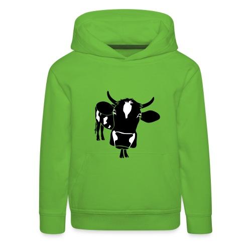 kuh rind muh milch bauer farm alm heidi fleckvieh  lila cow Kinder Pullover - Kinder Premium Hoodie